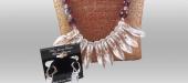 Alluring diamond & crystal necklace set