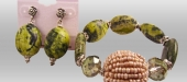 Turquoise-yellow-bracelet-earring-set
