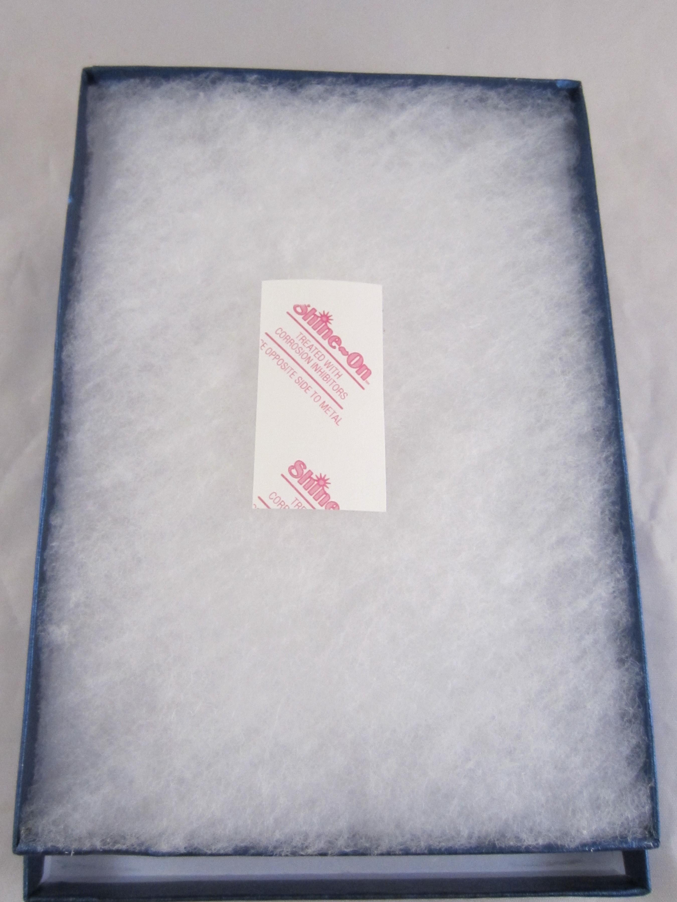 jewelry box with anti-tarnish paper