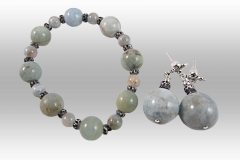 AQUAMARINE BRACELET & EARRING SET