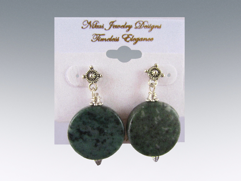 Green marble natural beads