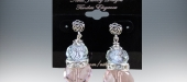 Glass crystals & rhinestones earrings