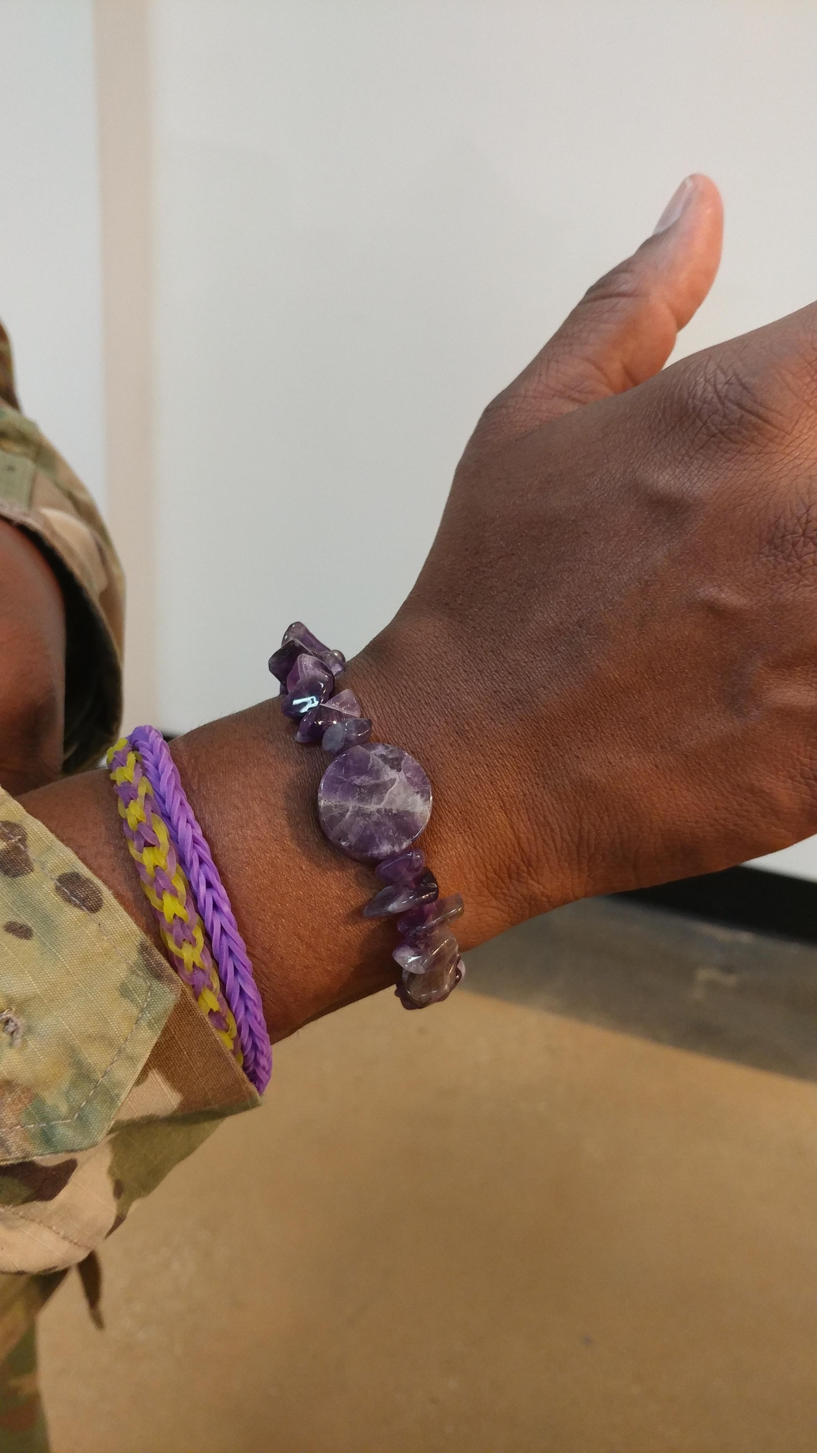 Joint Base Bolling - Customer & Nikus Amethyst Bracelet