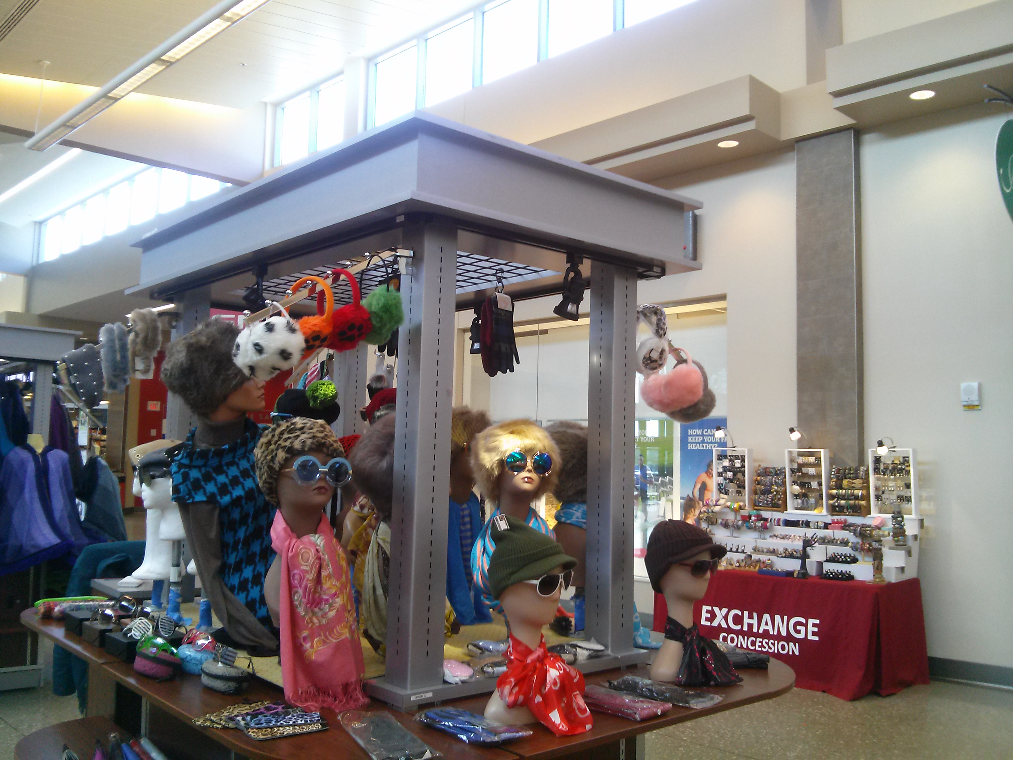 Fort Meade Army Base Kiosk Display March 2017