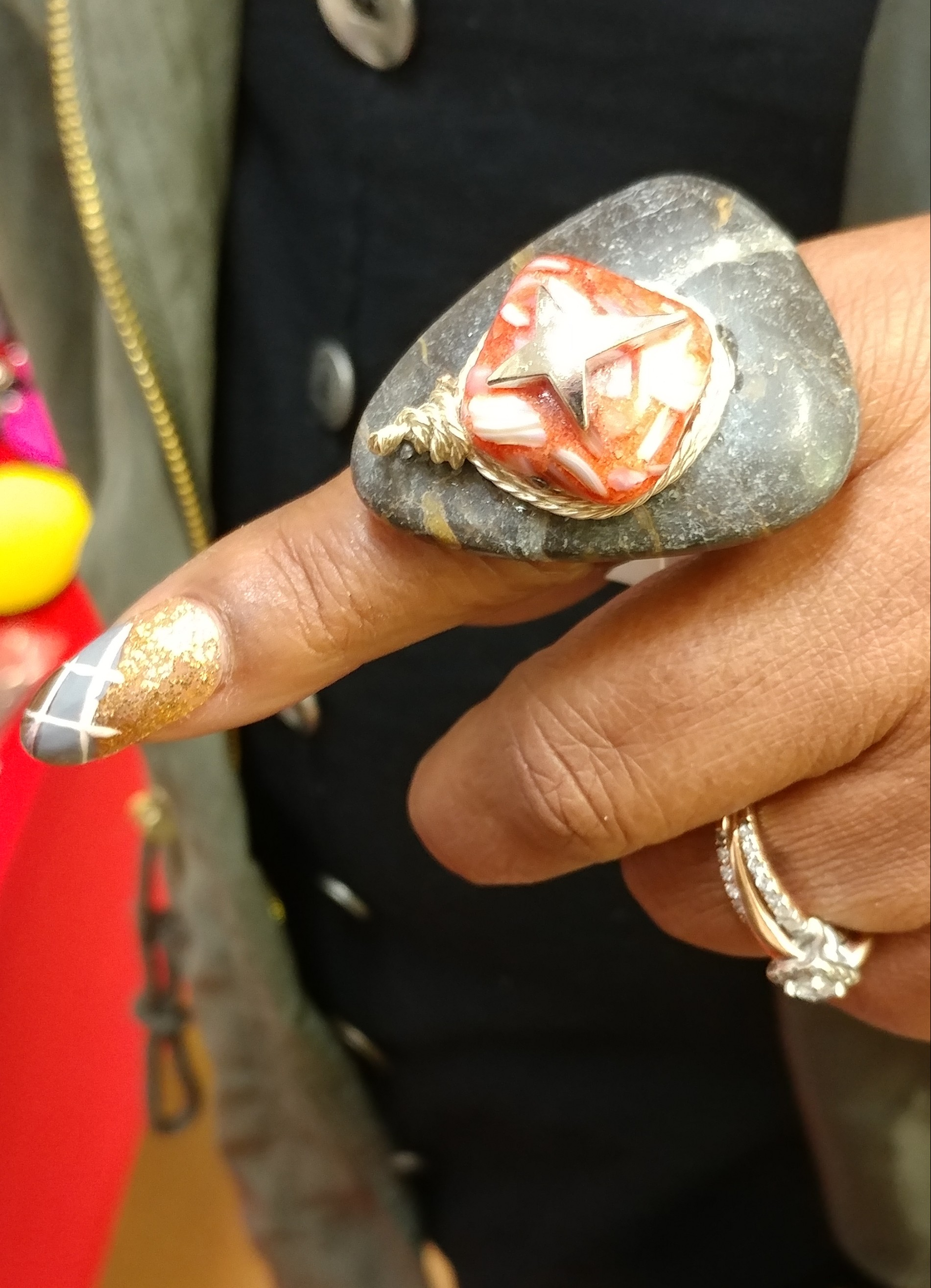 Marble Ring and other findings by Nikus