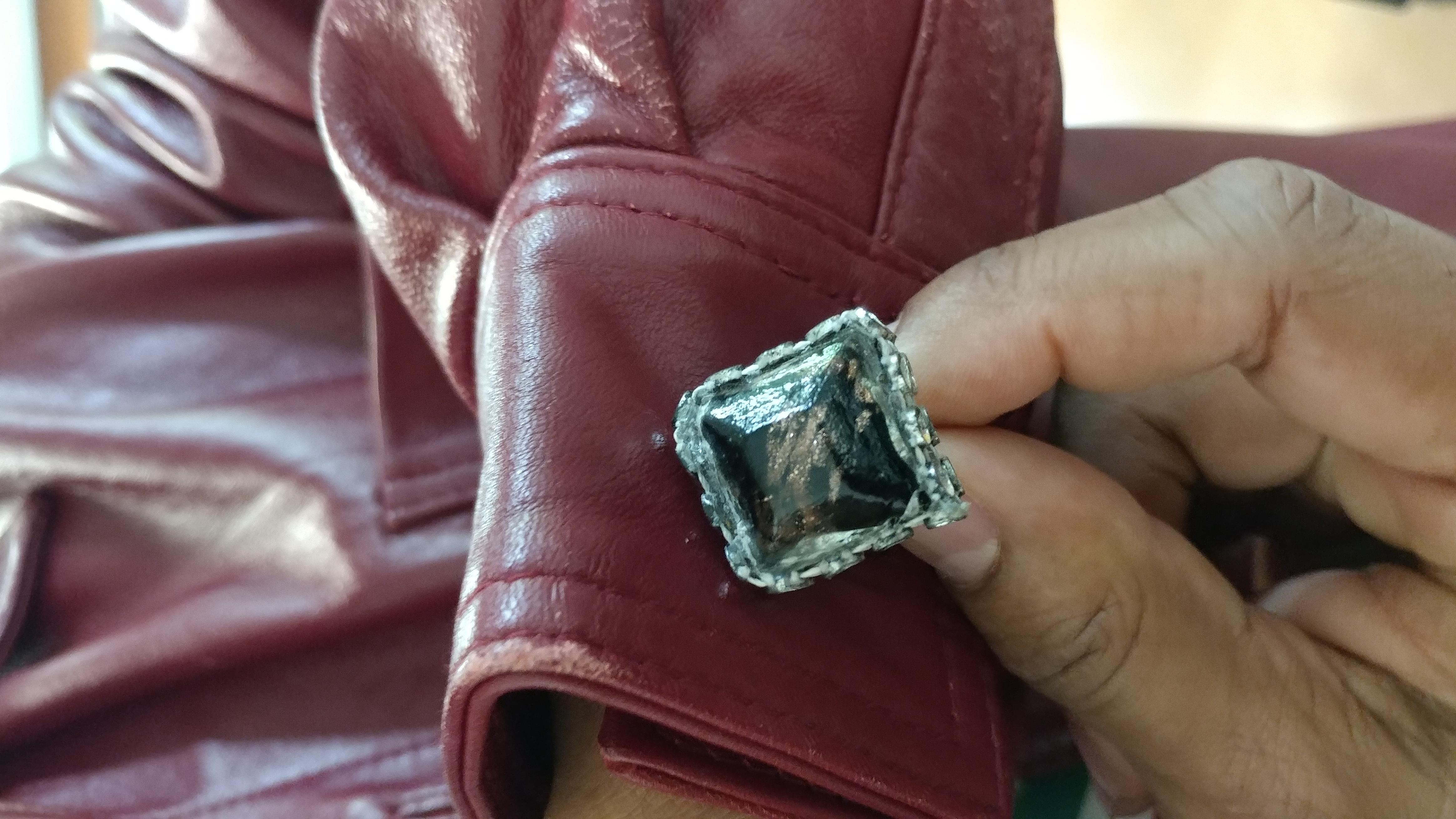Dicholric glass cufflinks by Nikus