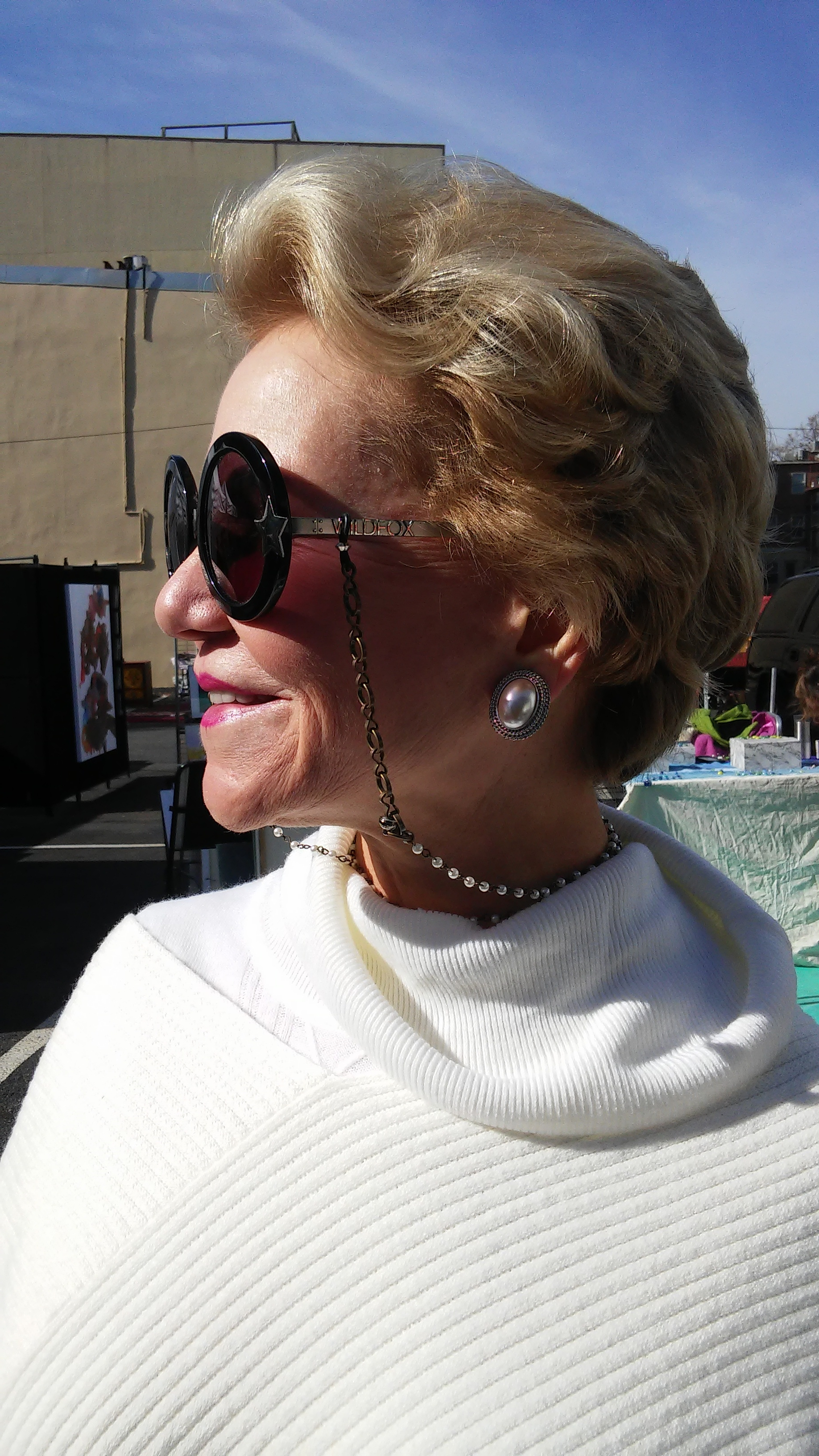 Arts Rave October 2015 - Customer & Pearl Eyeglass Chain / Necklace