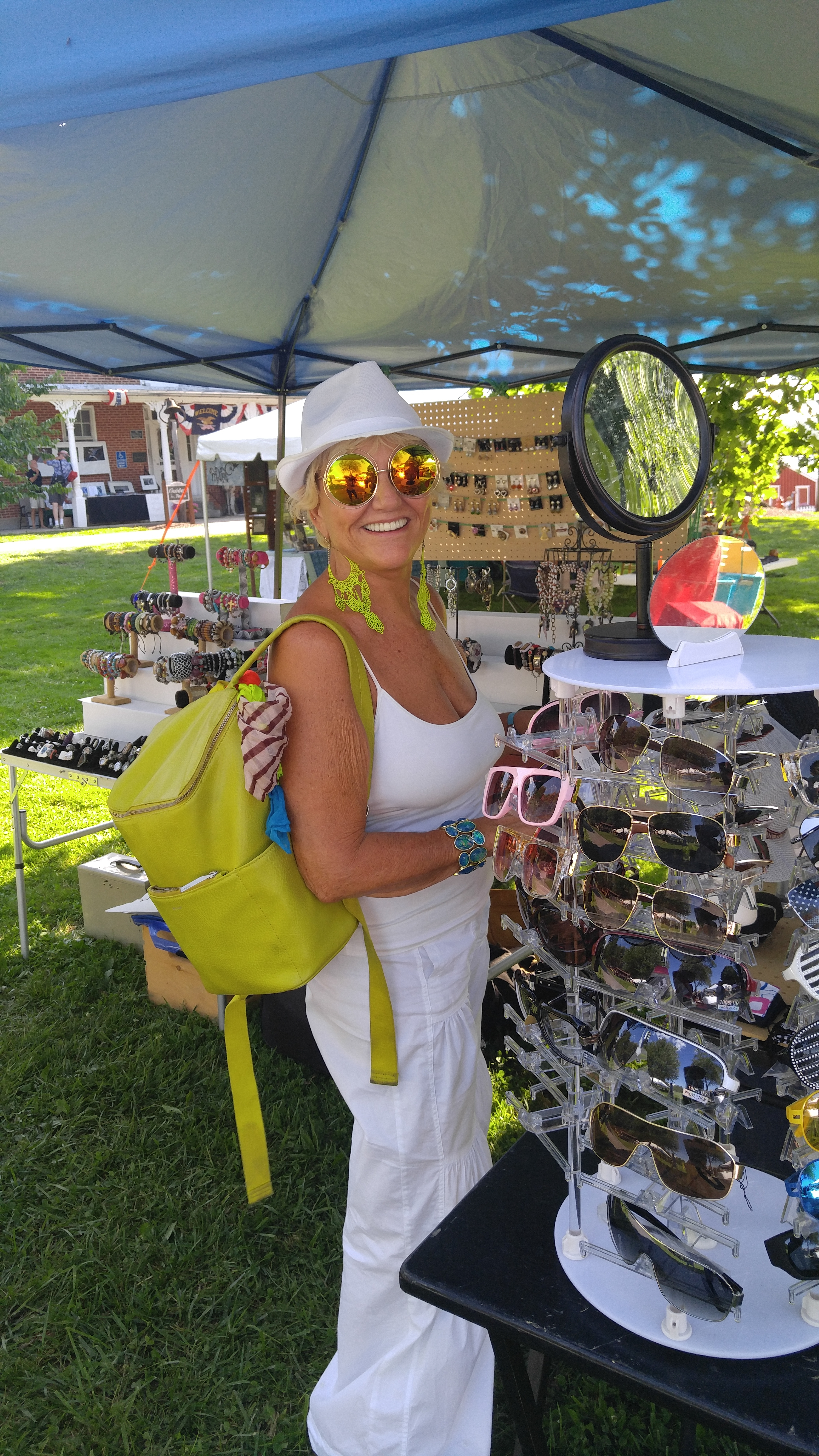 Customer rocking new sunglasses at Common Ground Festival July 2016