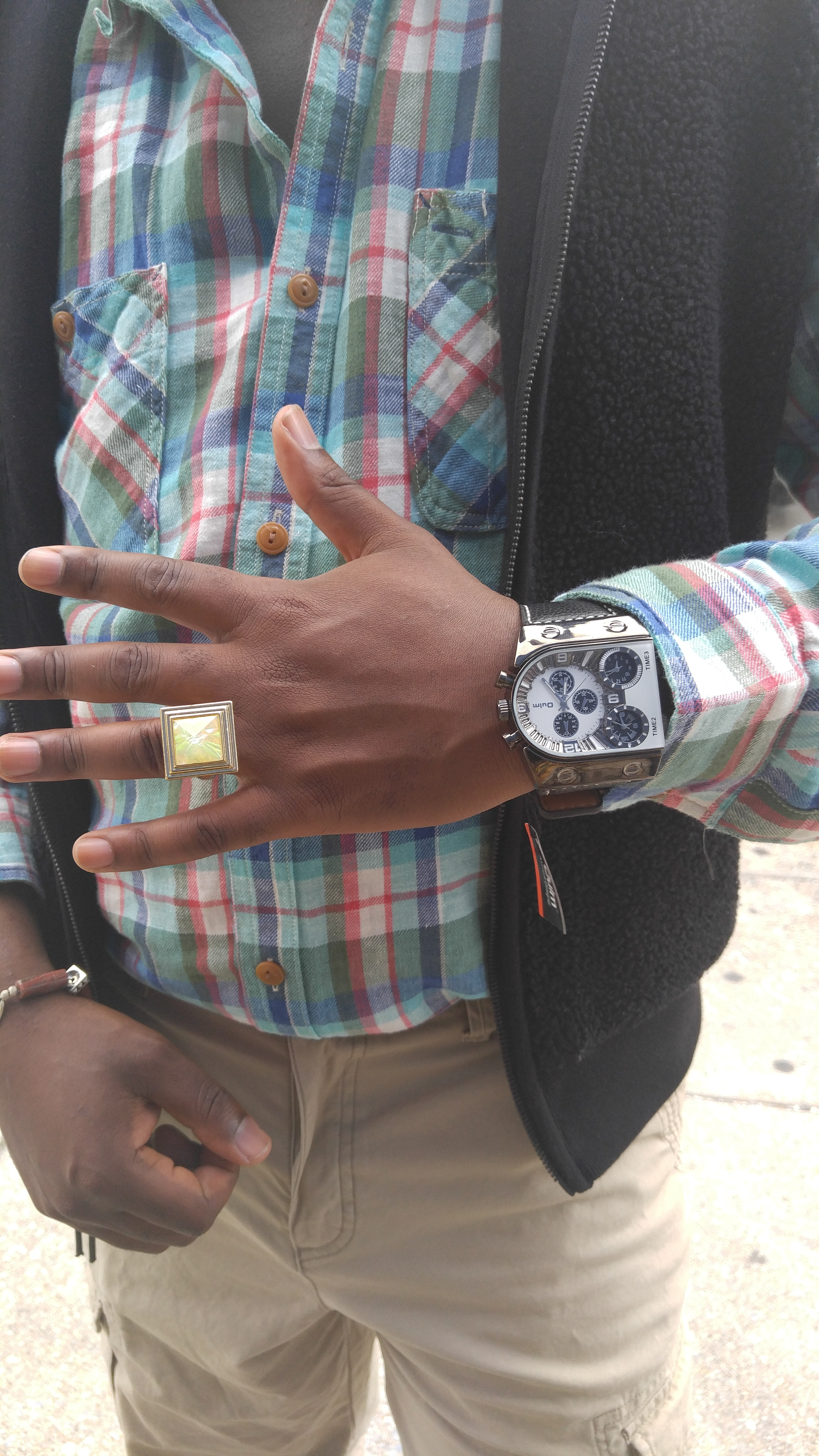 Ring designed by Nikus and watch distributed by Nikus