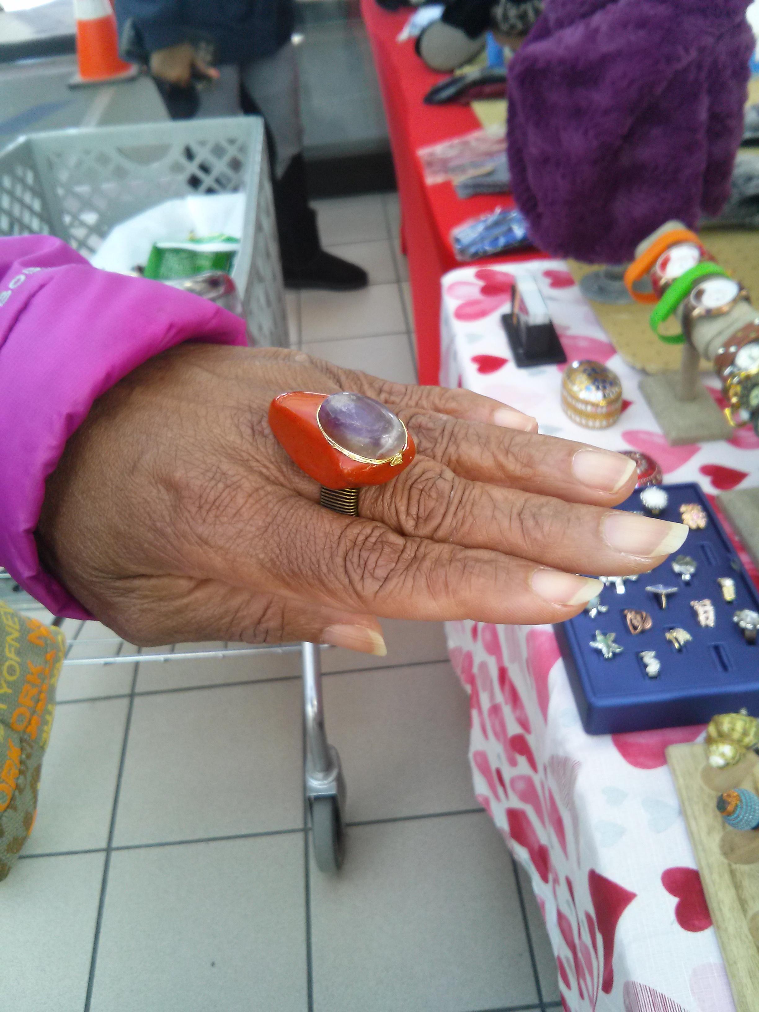 Nikus Ring with Agate & Amethyst