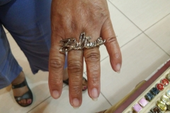 Salisbury Arts Show Customer Poses with Ring