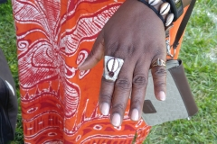 Customer wearing Nikus ring at Common Ground Festival 2016