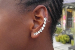 Customer wears earcuffs purchased at Nikus Booth, Sept. 2016