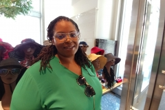Customer tries on Personality Glasses @ NASA June 2017