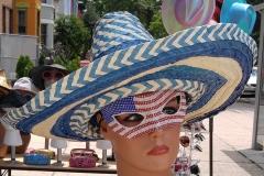 Mannequin Victoria models Mexican hat & U.S.A mask