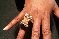 Customer in Nikus Soap Stone Ring @ NASA