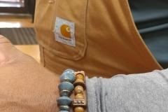 Rare blue corals & marble men's bracelets by Nikus