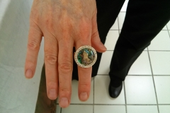 Customer & Nikus Ring with Abalone Shell @ USDA