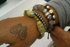 Customer & Nikus Bracelet with Turquoise Stones @ USDA