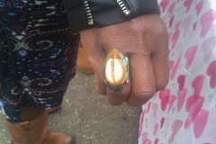 Nikus Turquoise Ring with Shell