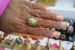 Nikus Antique Silver Ring with Turquoise