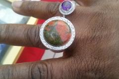 Customer & Unakite Ring