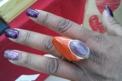 Customer & Agate / Amethyst Ring